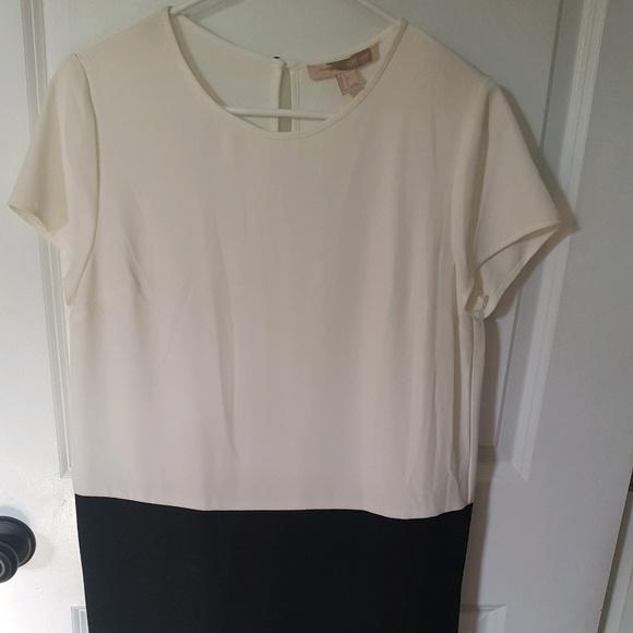 Forever 21 Dresses & Skirts - Forever 21 White/Black Shift Dress